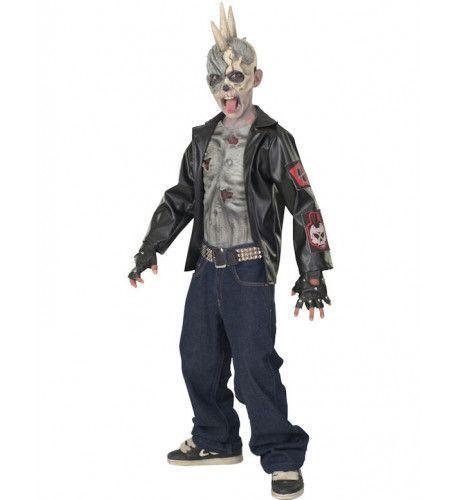 Kinder Punk Zombie Kostuum Jongen