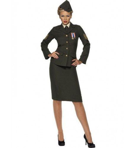 Vrouwen Officier In Oorlogstijd Vrouw Kostuum