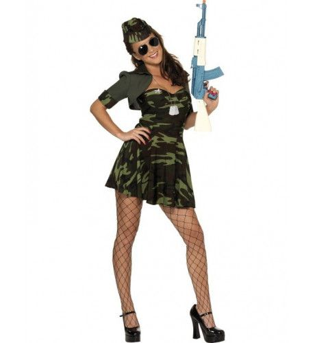 Military Babe Leger Vrouw Kostuum