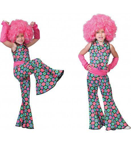 Disco Dot Jumpsuit Meisje Kostuum