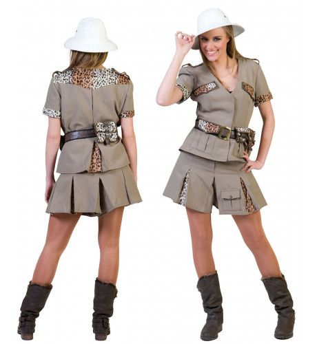 Safari Ontdekker Vrouw Kostuum