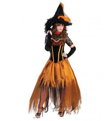 Betoverende Luxe Heks Vrouw Kostuum