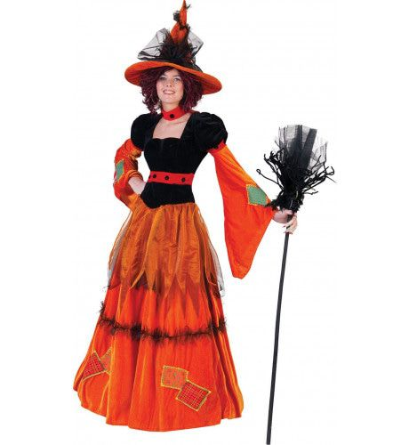 Pumpkina De Pompoen Heks Vrouw Kostuum