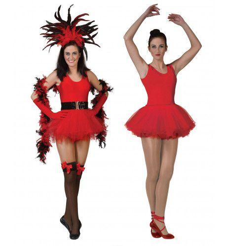 Ballerina Vrouw Rood Kostuum
