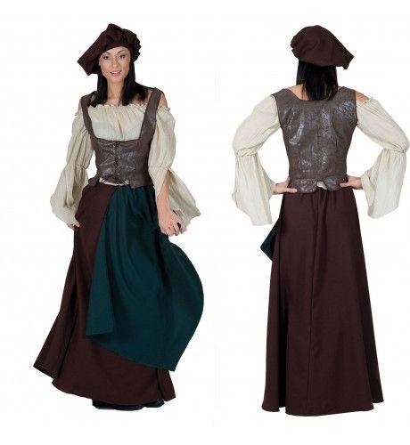 Middeleeuwse Boerin Kostuum Vrouw