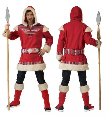 Eskimo Nanook Heer Man Kostuum