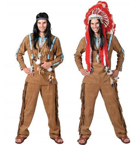 Anoki Strijder Indiaan Man Kostuum