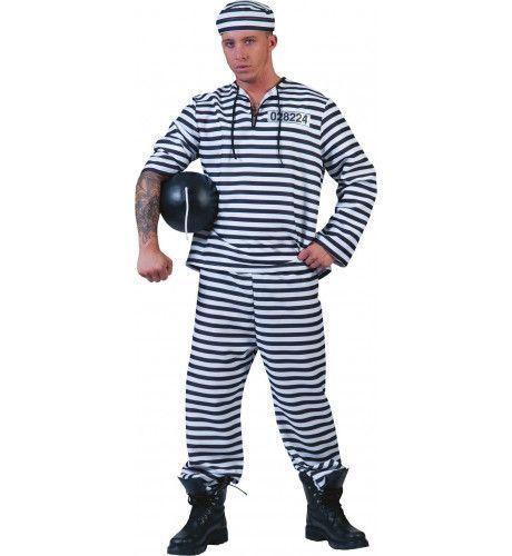 Water En Brood Gevangene Man Kostuum