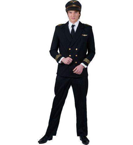 Skyhigh Piloot Man Kostuum