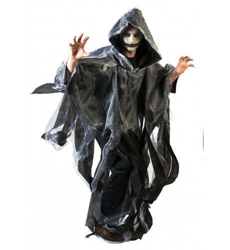 Grijze Spookachtige Cape Kostuum
