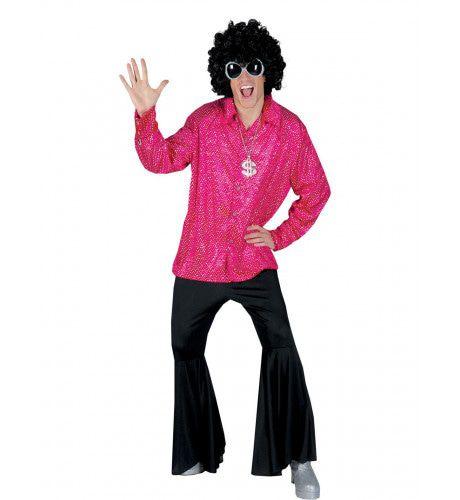 Boogie Nights Hemd Roze Man Kostuum