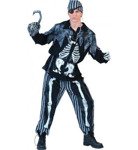 Piraat Ribbenkast Kostuum Man