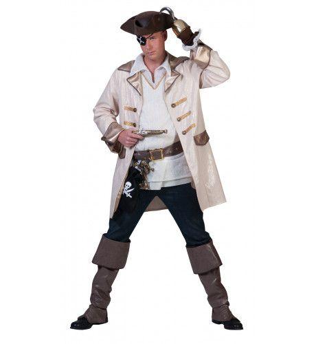 Piraat Estilo Navegador Kostuum Man