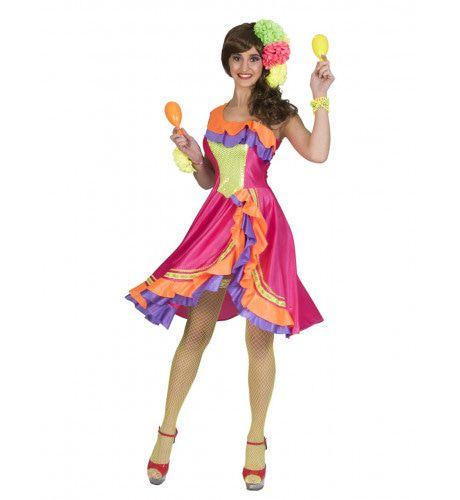 Sandra Samba Brasil Carnaval Vrouw Kostuum
