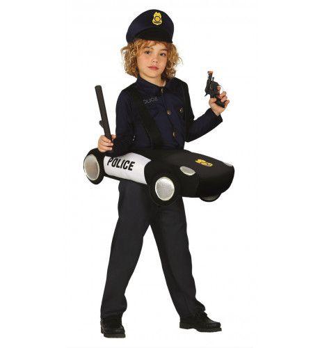 Ritje In Een Politie Auto Kind Kostuum