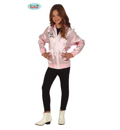 Highschool Jaren 50 Pink Girl Jas Meisje