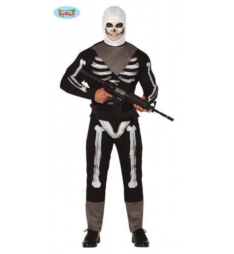Fortnite Skull Trooper Game Man Kostuum
