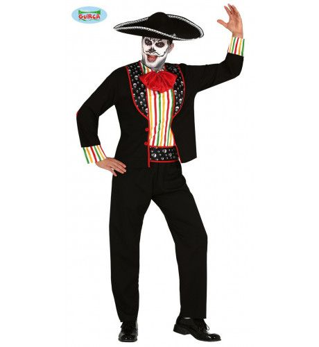 Caramba Carlos Mariachi Day Of The Dead Man Kostuum