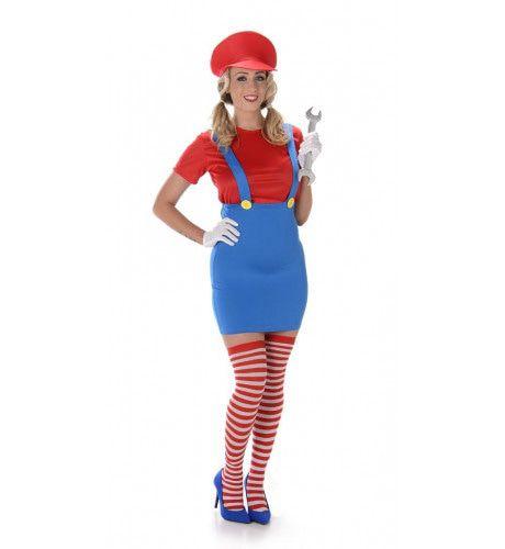 Maria Loodgieter Computerspel Vrouw Kostuum