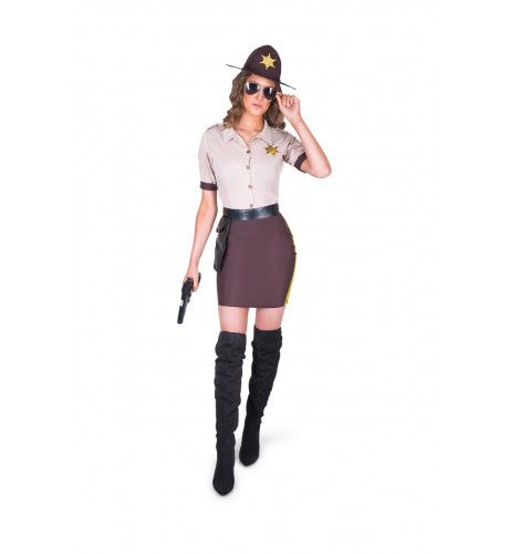 Sheriff Platteland Middenwesten Verenigde Staten Vrouw Kostuum