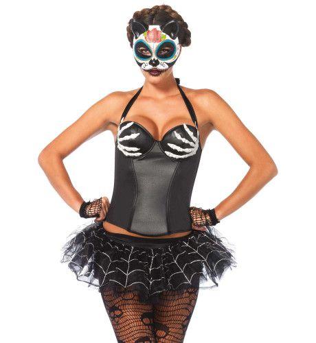 Halter Halloween Korset Met Bothanden
