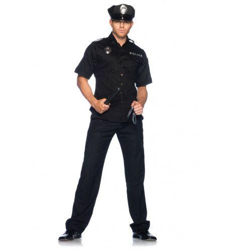 Sexy Mannelijke Agent Kostuum