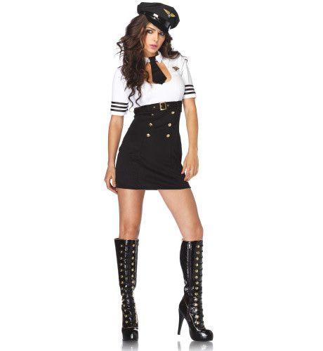 Sexy Kapitein Dame Ms Stubing Vrouw Kostuum