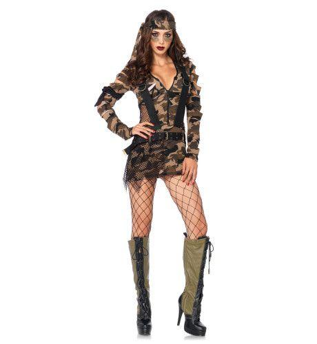 Sexy Dames Rambo Soldatenjurk Vrouw