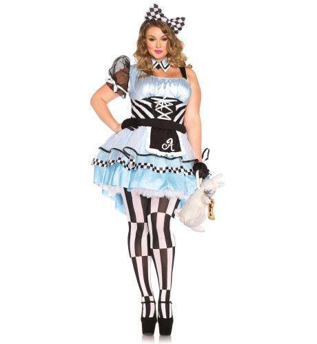 Pschychedelische Sexy Alice In Wonderland (Plus Size) Vrouw Kostuum