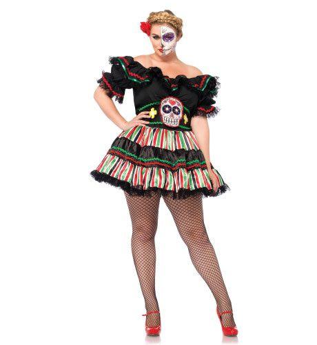 Dia De Los Muertos Sexy Jurk (Plus Size) Vrouw