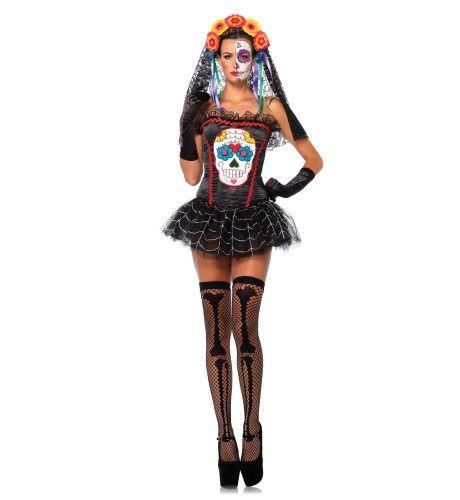 Dia De Los Muertos Halloween Bustier