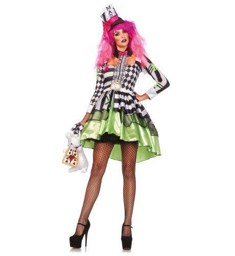 Heerlijke Mad Hatter Dame Vrouw Kostuum