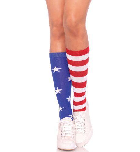 Amerikaanse Stars & Stripes Kousen