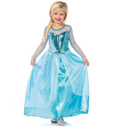 Sneeuw Koninging Sprookjes Meisje Kostuum