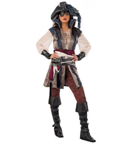Luxueuze Schatgraver Pirate Fabiola Vrouw Kostuum