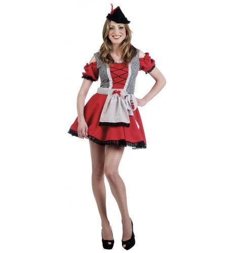 Kort Kleintje Pils Oktoberfest Dirndl Vrouw Kostuum