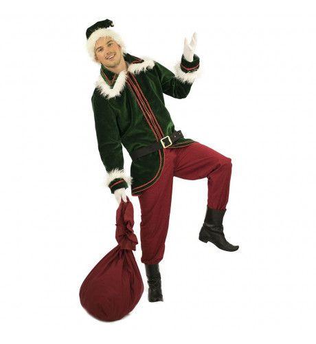 Weelderig Winter Elf Kerst Man Kostuum