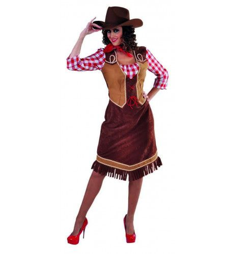 Stoere Frontier Cowgirl Sam Vrouw Kostuum