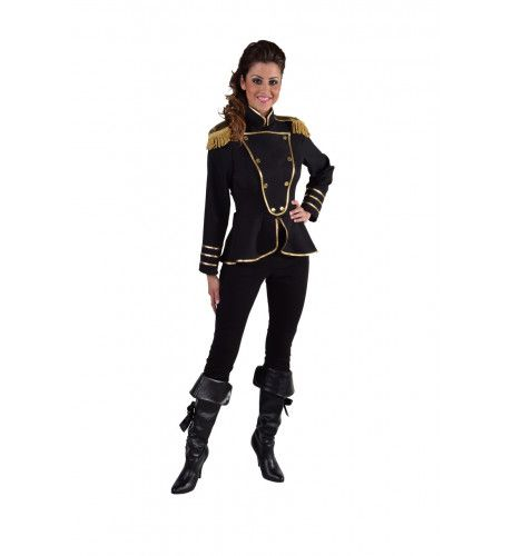 Cavalerie Uniform Jas Zwart Vrouw