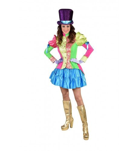 Kakelbonte Circus Directeur Jas Vrouw