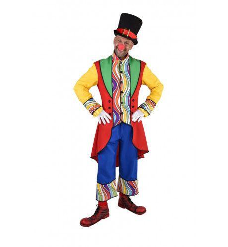 Regenboog Golven Clown Circus Theater Man Kostuum