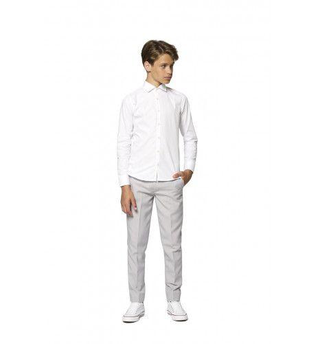 Universeel Wit Overhemd Voor Onder Een Pak Jongen