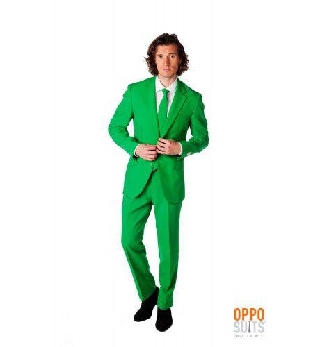 Groen Evergreen Opposuit Kostuum Man