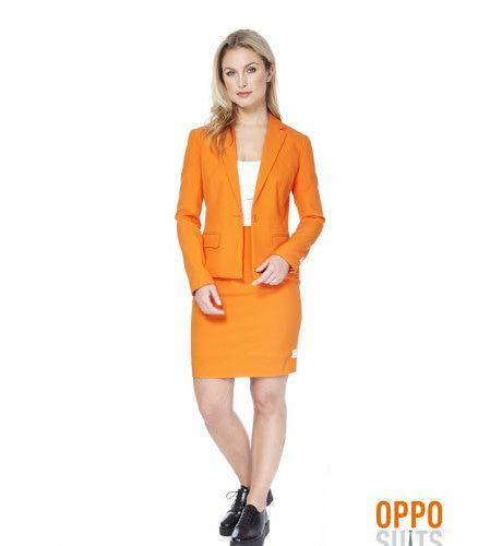 Nassau Foxy Orange Opposuit Vrouw Kostuum