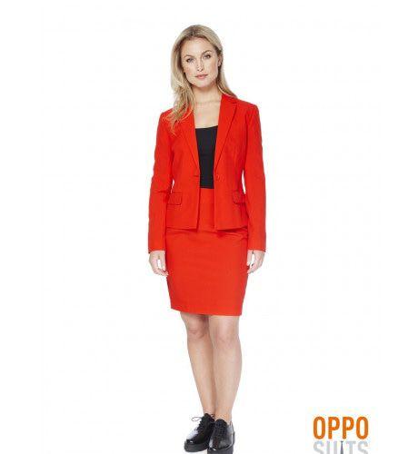 Rood Red Ruby Opposuit Vrouw Kostuum