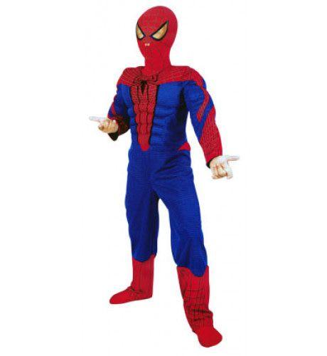 Spiderman Met Spierballen Jongen Kostuum