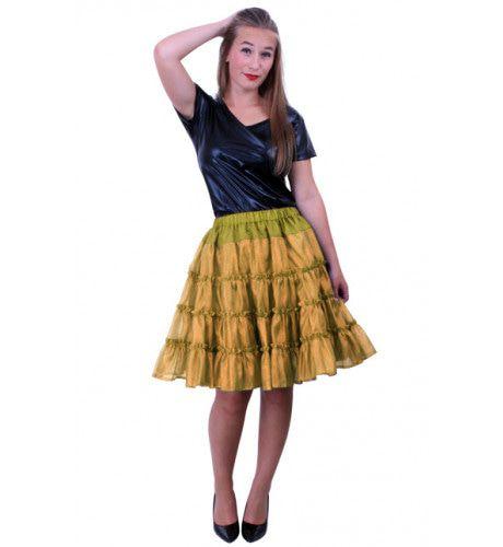 Rock A Baby Petticoat 5 Laags Goud Vrouw Kostuum