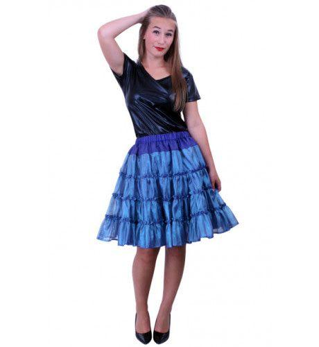 Rock A Baby Petticoat 5 Laags Blauw Vrouw Kostuum