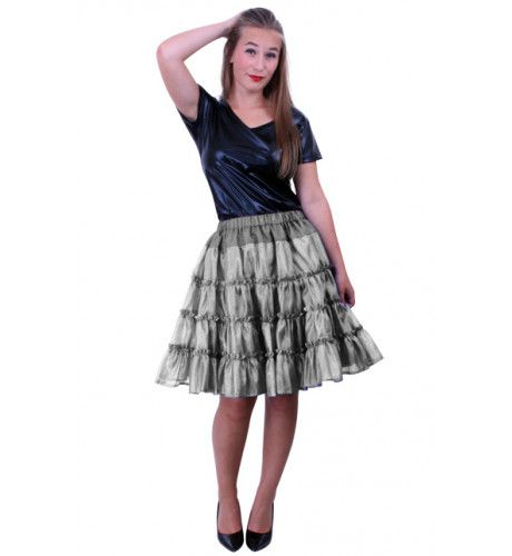 Rock A Baby Petticoat 5 Laags Zilver Vrouw Kostuum