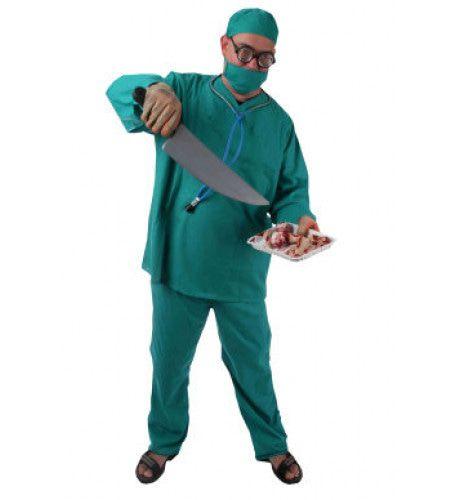 Groene Operatiekamer Chirurg Man Kostuum